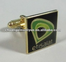 square enamel cufflink for Etisalat CXHY-CL118