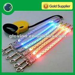 2012 Best sale different pattern custom leash LED high bright dog leash camo dog leash