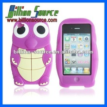 Lucky Cat design custom silicone animal case for iphone 4s