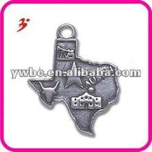 fashion alloy state of texas charm pendant (186674)