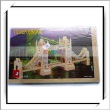 3D Puzzle Wooden Toy - Wood Bridge Toys-W6020