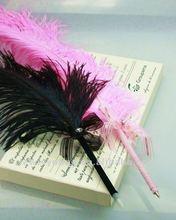 Ball pen ostrich feather, feather quill ball point pen