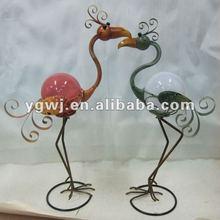 Outdoor large flamingo metal decoration