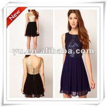 2012 Summer Hotest Design Babydoll Sequin Dress ,Ladies Causal Dress