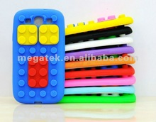 Cell phone case phone accessories building brick silicone case for samsung galaxy s3, for samsung galaxy s3 case