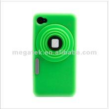 phone case Camera design Dustproof silicone case for iphone 4 4s,for iphone case 4s 5s 6,for iphone 4s case camera