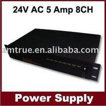 power distribution box---24V AC 5 Amp 8 channel CCTV 1U Rack Mount Power Supply