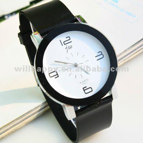 Couro moda dom relógio masculino aliexpress ( sw - 404 )