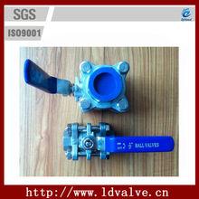 handle three pieces inside threaded ball valves