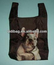 Printable Reusable Foldable Polyester Shopping Bag
