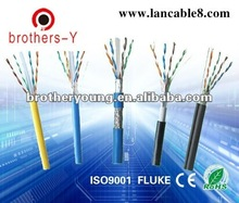 Hottest sale High Quality 100 ohm Solid PE Broadband twisted pair Lan /network Cable CAT6 ( UTP/STP/FTP)