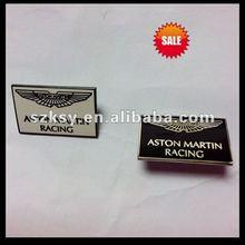 metal logo plate for Aston martin