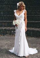 Sexy Cheap Chiffon Casual Beach Wedding Dresses 2014