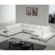 imported leather sofa,Led light recliner sofa,white leather sectional sofa T629