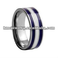 Popular Design!Resin and Ceramic Inlaid 2012 Western Fashion Style Jewelry Mens Wedding Band Tungsten Ring