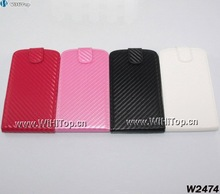 Superior Quality Flip Leather Carbon Fiber Cover Case for Samsung Galaxy S3 i9300 Fast Delivery Wholesale Price