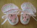 100% artesanal de algodão crochet sapatinho bebê recém-nascido atacado 3d sapato meias