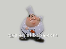 Chef figure ceramic souvenir fridge magnet