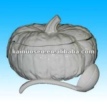 White Ceramic Pumpkin Serving