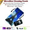logo printed Microfiber mobile phone bag