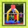 Infância feliz, basquete inflável playground equipamento