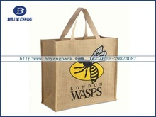2012 Hot burlap bags with Jute handle for shopping