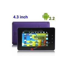 4.3 inch Touch Screen Android 2.2 aPad Style Tablet PC Competitive Price China with WIFI, 360 Degree Menu Rotate(Purple)