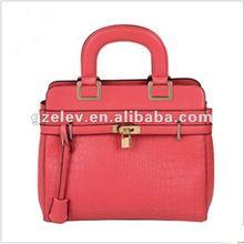 Hot sell!!!ELVA HENRYLEO 2012 OL crocodile pattern women candy color handbag