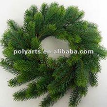 Xmas decoration pine needle wreath.