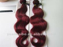 factory wholesale virgin brazilian dark burgundy body wave weaving hair