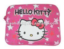 Pink color child computer bag