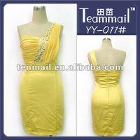 crystal diamond one shoulder cocktail dress patterns 2012