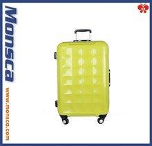 Aluminum frame universal wheel light green pc trolley luggage