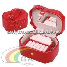 (round) innovation design/fashion/popular/high-grade leather jewel box