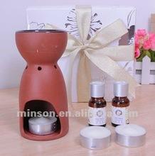 2012 Popular Aroma Oil Burner Ceramic Incense Burner Set with Gift Box