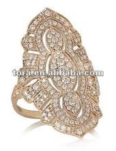 2012 latest design rose gold diamond ring