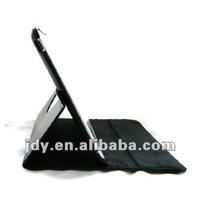 For black PU leather 360 degree rotating ipad2 case