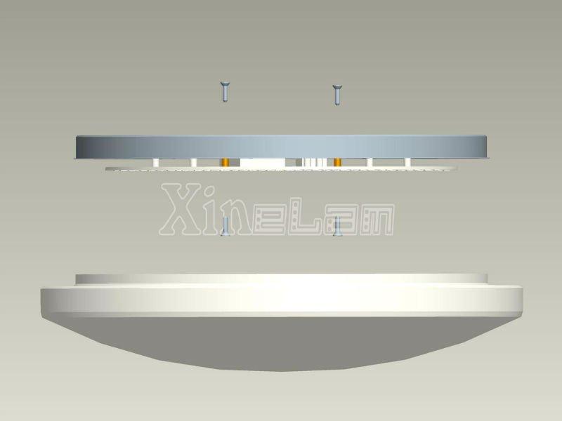 diy round led ceiling light fixture inside led panel. Black Bedroom Furniture Sets. Home Design Ideas