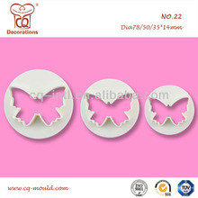 DECOR TOOL- Sugarcraft plunger cutter-Pastry /Fondant butterfly plunger cutter- 3 pcs package