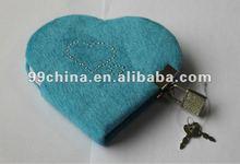heart shape diary with lock