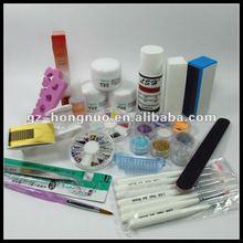 Acrylic Nail Art Powder Liquid Brushes Rhinestones Full Kit Set HN1294