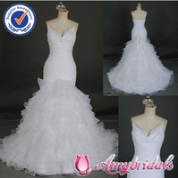 AM453 Spaghetti strap pictures of sexy wedding night dresses real wedding dress mermaid