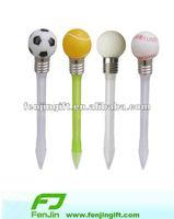 Light ball pen with football golf ball
