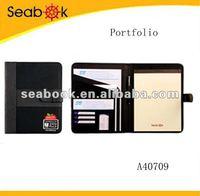 Business portfolio with printed