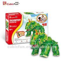 Triceratops Dinosaur quebra-cabeça 3D dragão pictures para imprimir