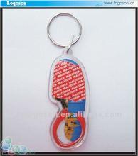plastic acrylic mini shoe keychains