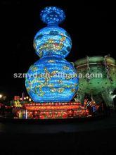 The Lighting Of Calabash Decoration For lantern Festival snow man decoration