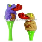 Novelty Curly Club Pen - Rain forest Lizard Series - Plastic Novelty Pen