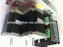 cnc step motor kit SM60HT86-2008x3, cw5045 stepper motor driver x3; 350w power supply x1