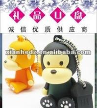 cute monkey USB Flash Drive 64GB mini USB flash new design